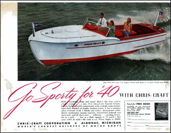 History of Chris Craft 25-Foot Express Cruiser